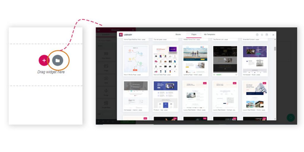 add elements in landing page